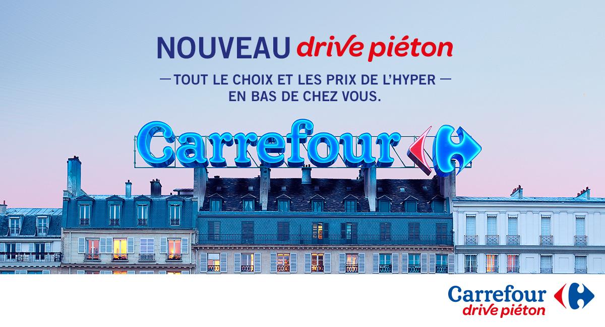 drive pi ton carrefour proposer aux parisiennes le meilleur de l hypermarch en bas de chez. Black Bedroom Furniture Sets. Home Design Ideas